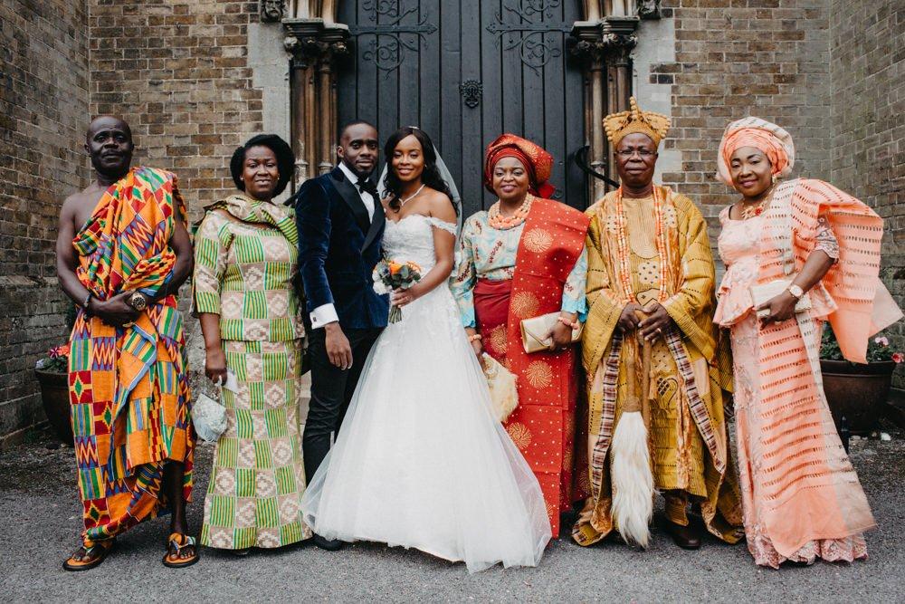 African Wedding With Traditional Dress And Amanda Wyatt Bridal Gown