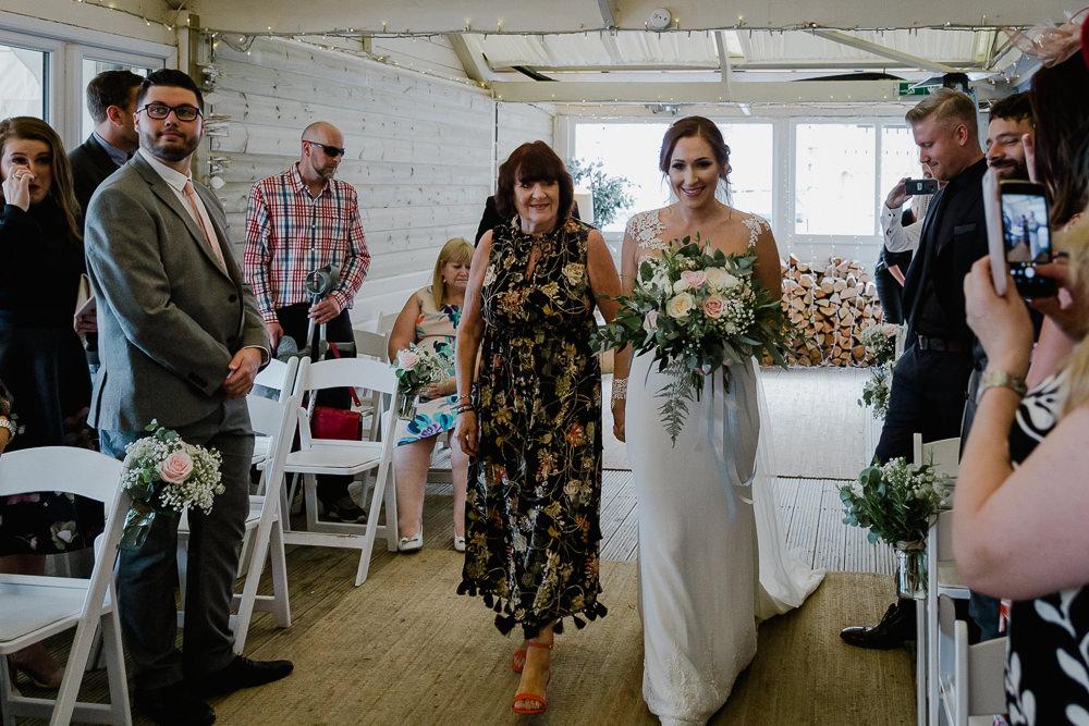 Lusty Glaze Beach Wedding In Newquay With Long Sleeve Wedding Dress,Plus Size Wedding Dresses Online Australia