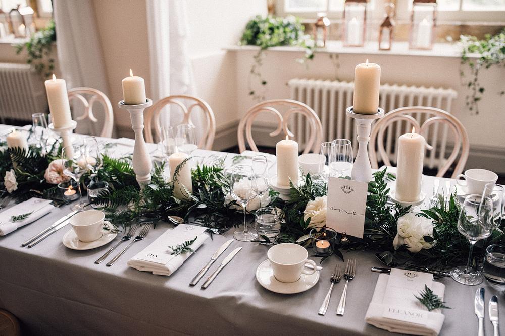 Bespoke Amanda Wakeley Dress For An Elegant Monochrome Wedding