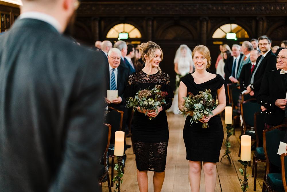 cc88b1c094f Candlelit Christmas Wedding at Gray s Inn London with Carols   Wreaths