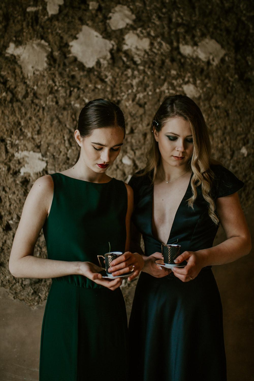 Forest Green Black Rustic Barn Dark Decadent Wedding