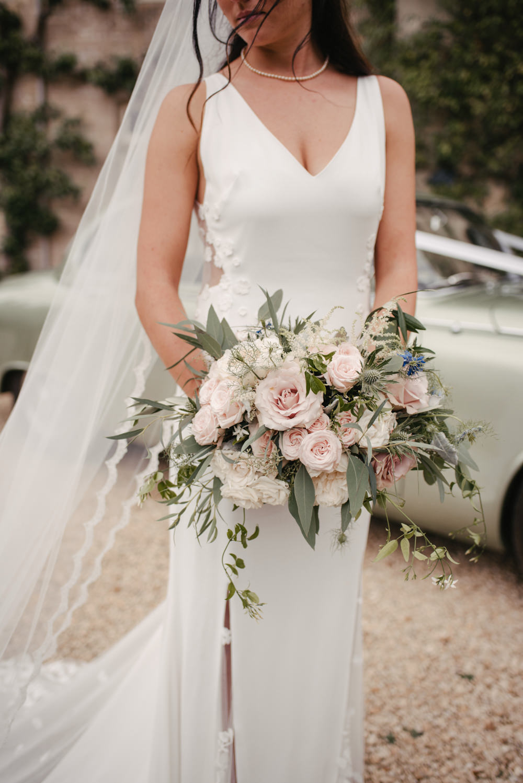 The Lost Orangery Wedding Venue With Bride In Aston Dress ...