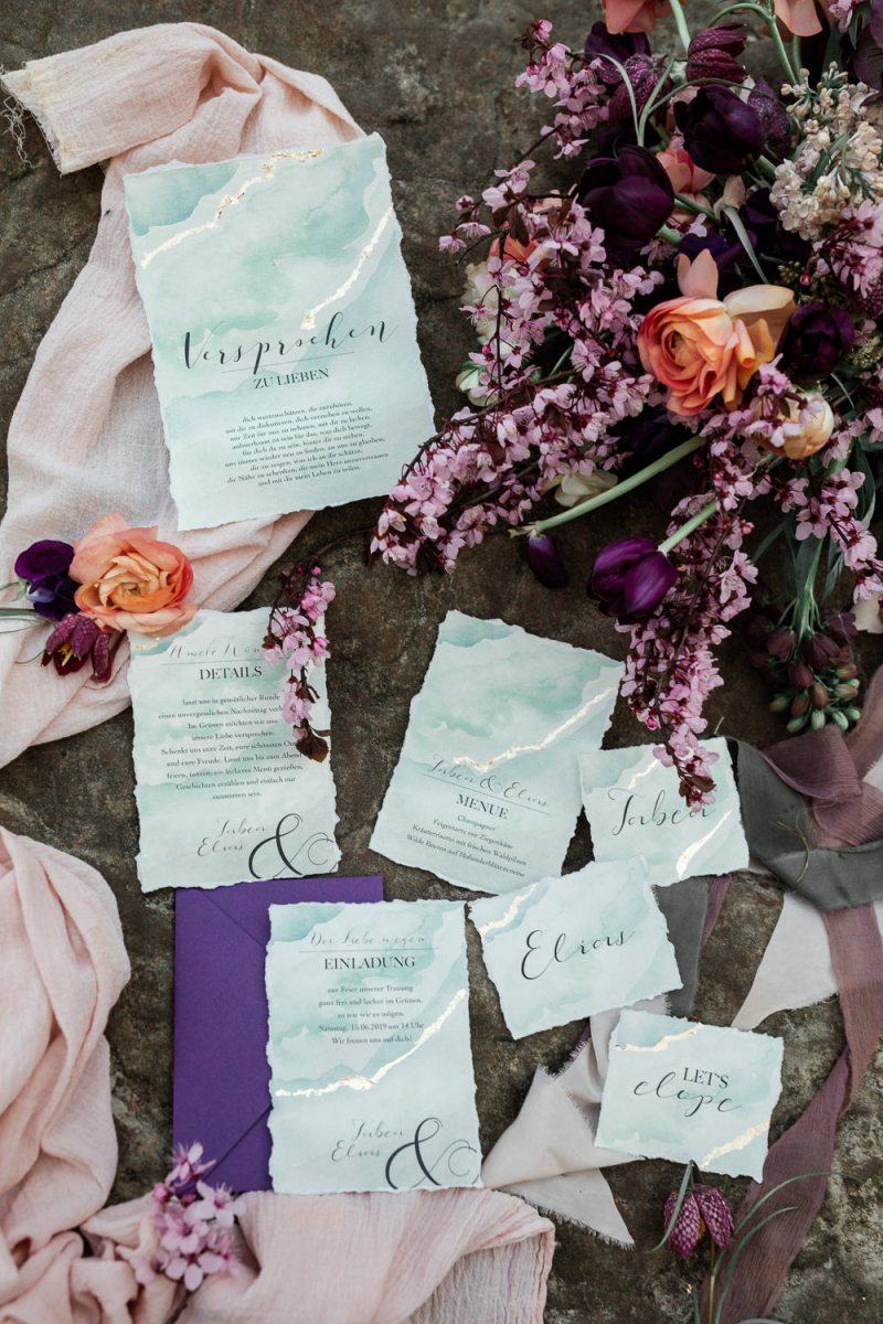 Pink Wedding Flowers For A Nature Inspired Elopement On The Rocks