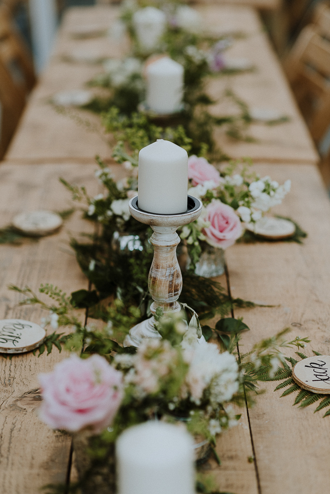 Rustic Wedding With Flower Hoop Decor At Streamcombe Farm