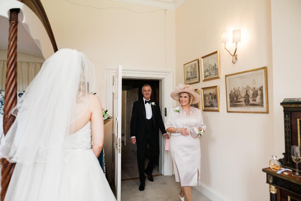 Cream And Blush Black Tie Wedding: Romantic Blush Pink, Black Tie Wedding At Iscoyd Park
