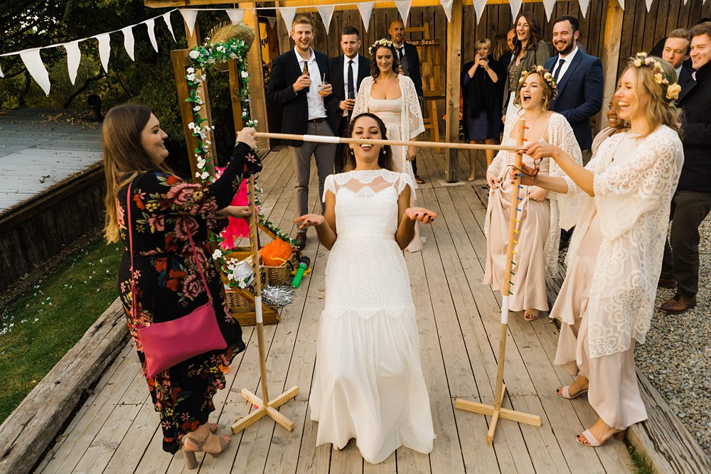 Lace Katyakatya Dress For Tipi Wedding At Fforest Farm