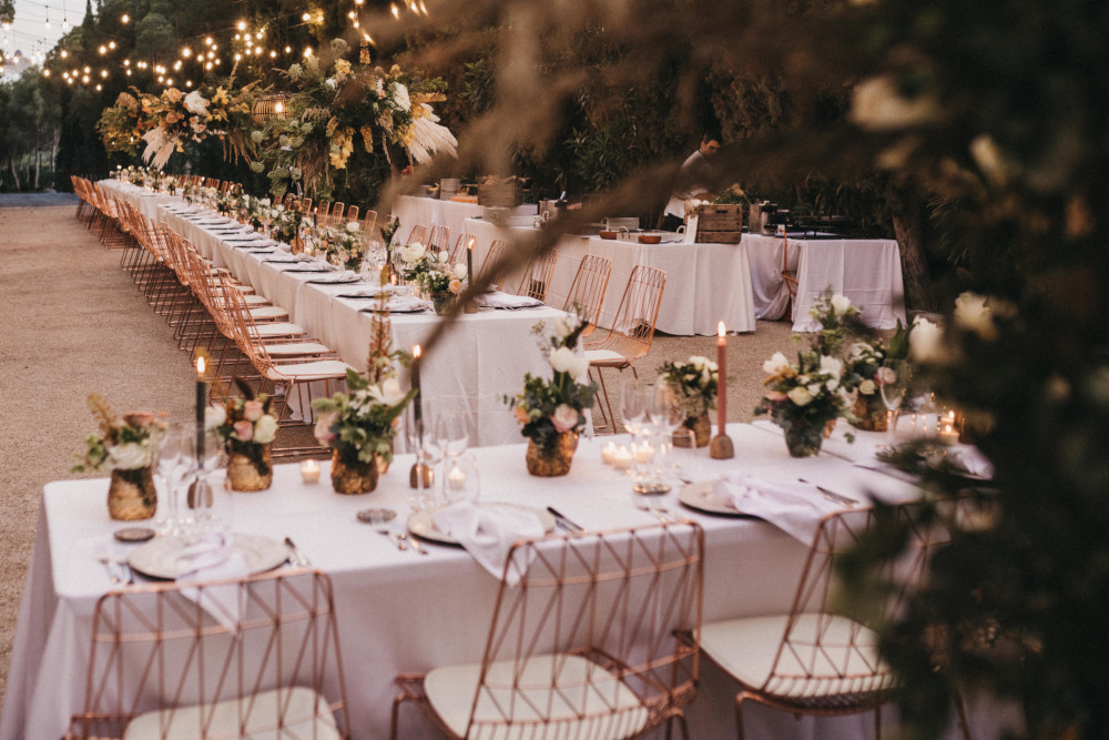 An Outdoor Wedding Reception In Spain Styled By Paloma Cruz