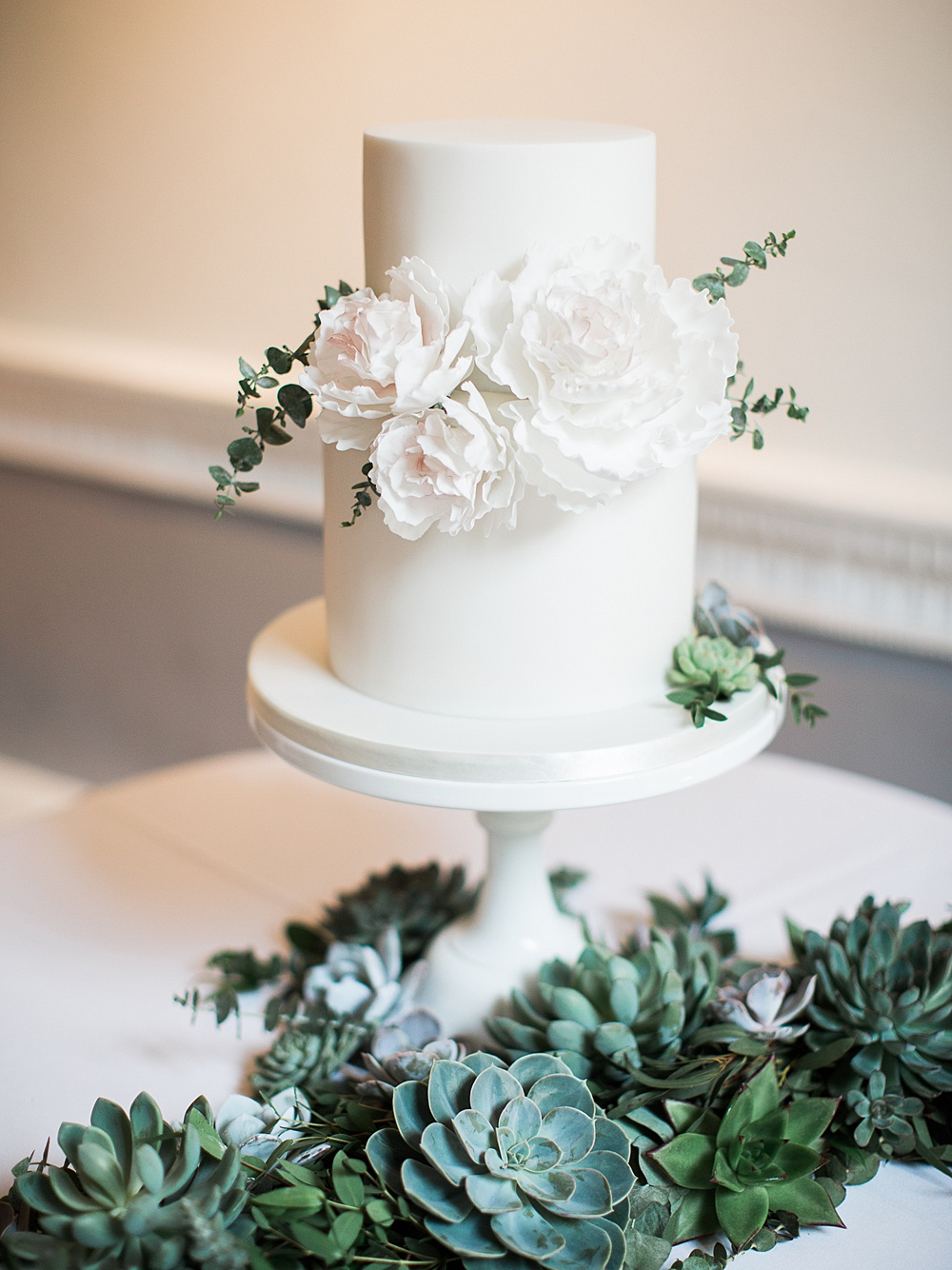 Elegant White Green Gold Wedding With Succulent Decor At Ica London