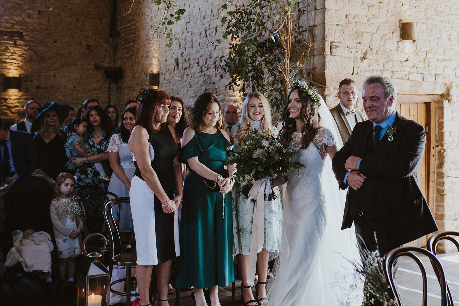 Greenery Wedding At Cripps Barn In The Cotswolds With