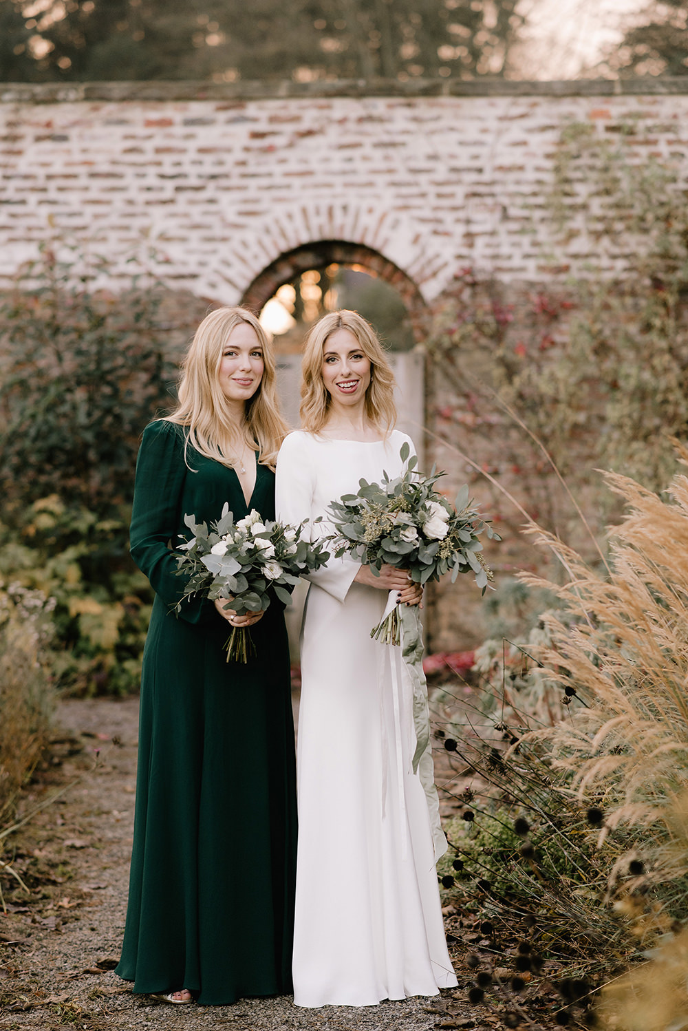 Emerald Green Bridesmaid Dress For A Winter Wedding At Middleton Lodge