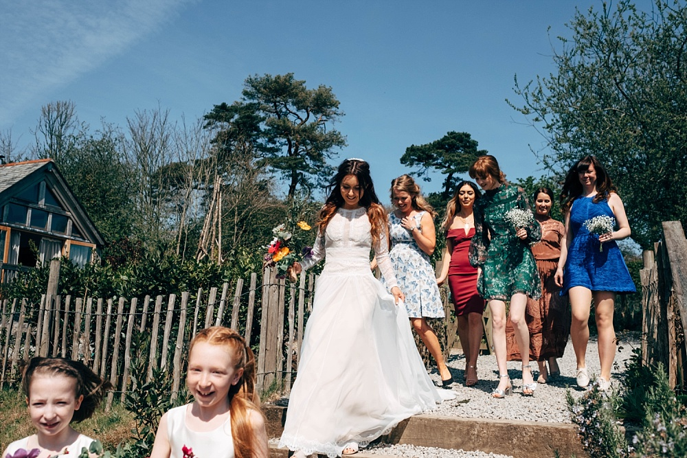 4d66f1b71 Nancarrow Farm Cornwall Wedding With Images From Dale Weeks & Bride In  Maggie Sottero With Wild