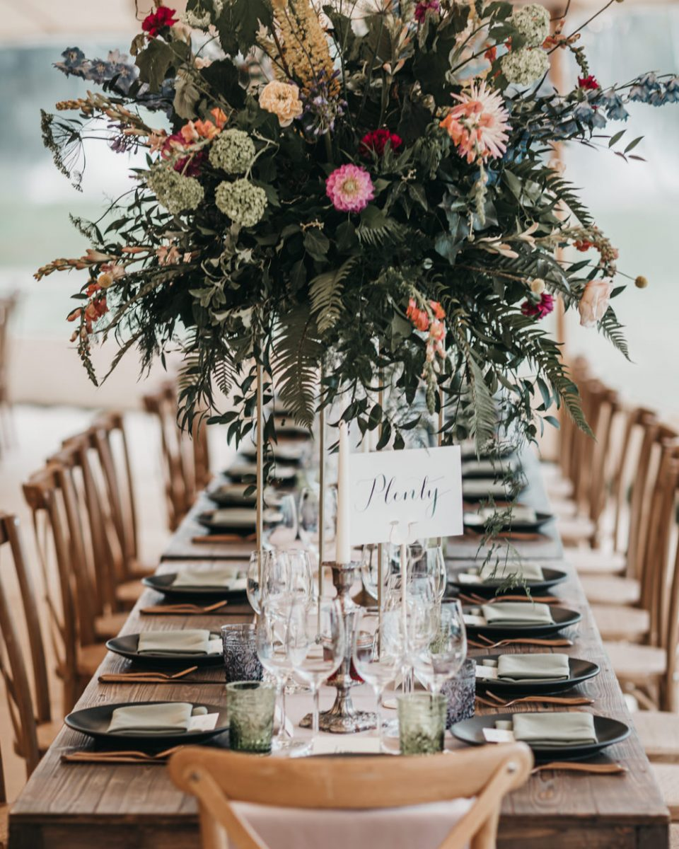 Church Wedding Ceremony And Colourful Sperry Tent Reception