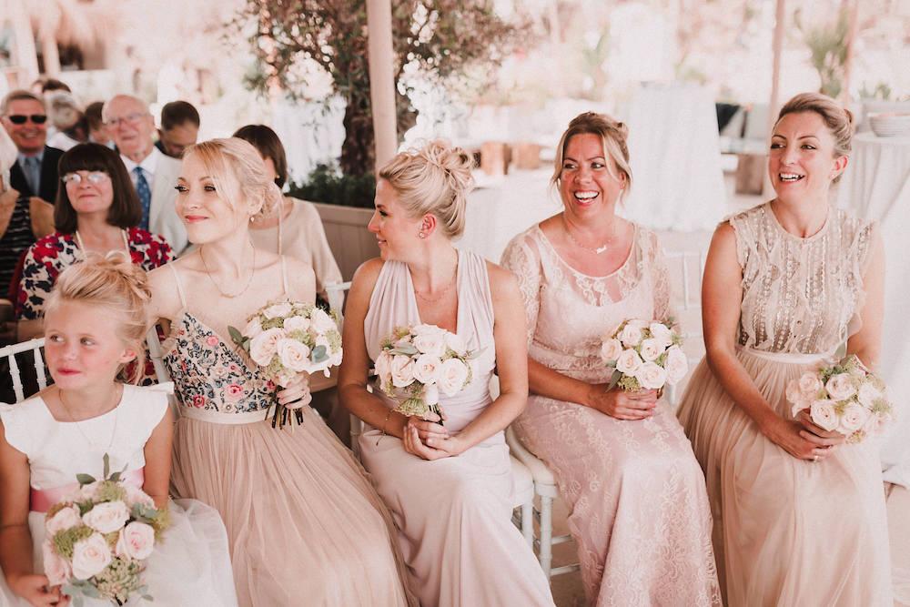 Blush Pink & White Marbella Beach Wedding at El Chiringuito, Puente ...