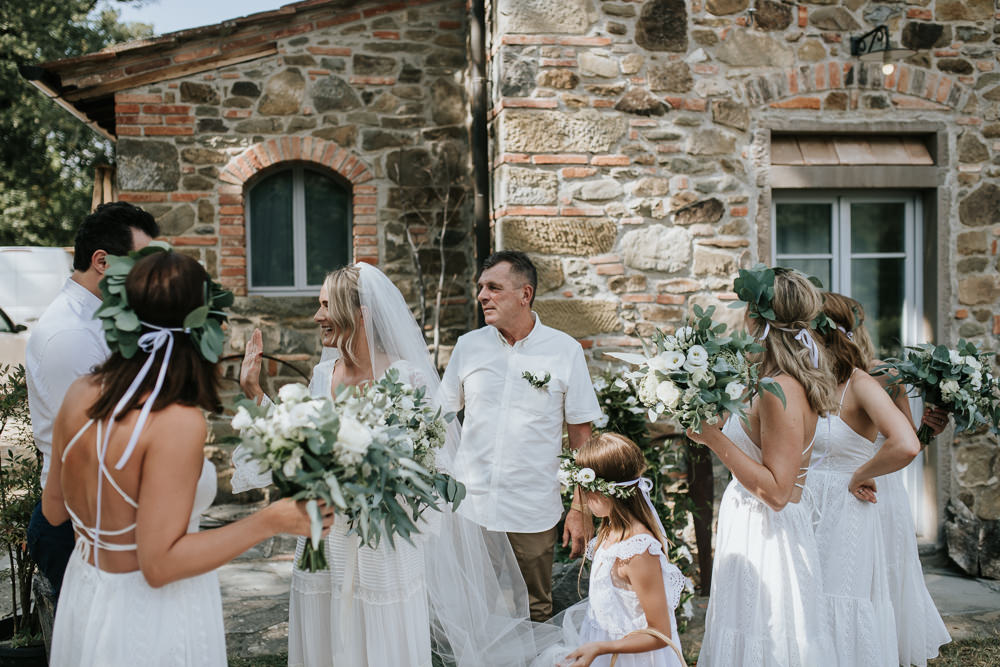 8bacee4e85 Bell Sleeve Wedding Dress for a Bohemian Wedding at La Selva