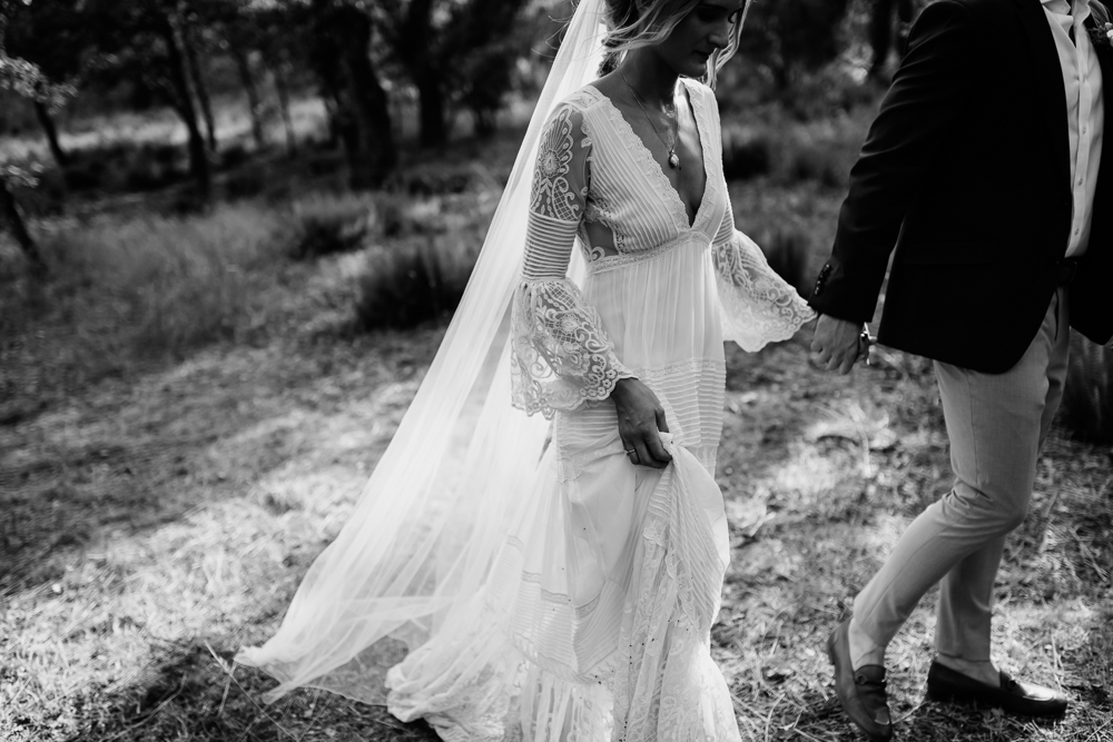 6e466d2ab1 Bride in Spell   the Gypsy Collective Bell Sleeve Wedding Dress