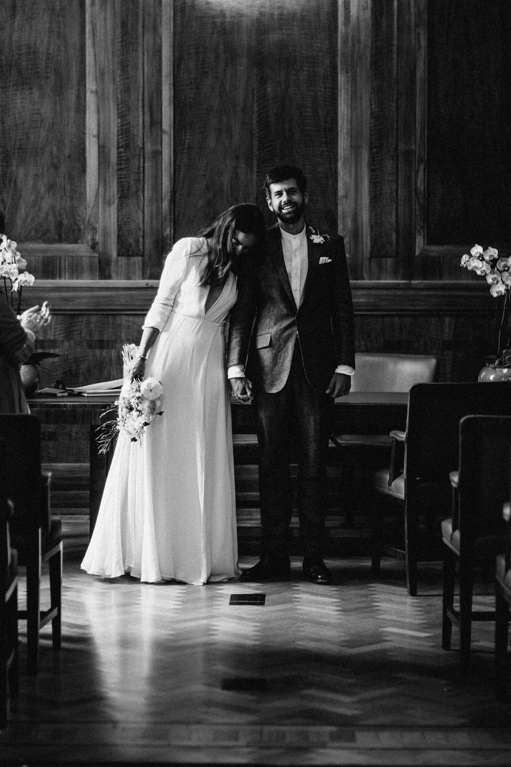 Stylish City Wedding At Hackney Town Hall & Bow Arts