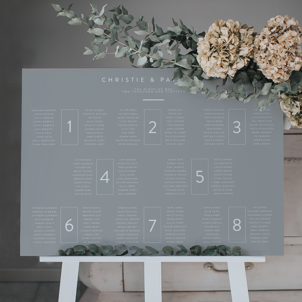Original And Stylish Ideas For Your Wedding Table Plan For