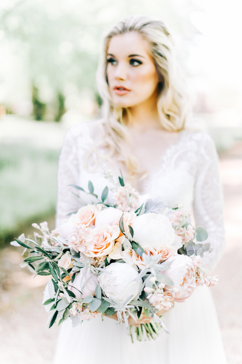 Fairytale Wedding Ideas With Lace Wedding Dress Peony And Rose