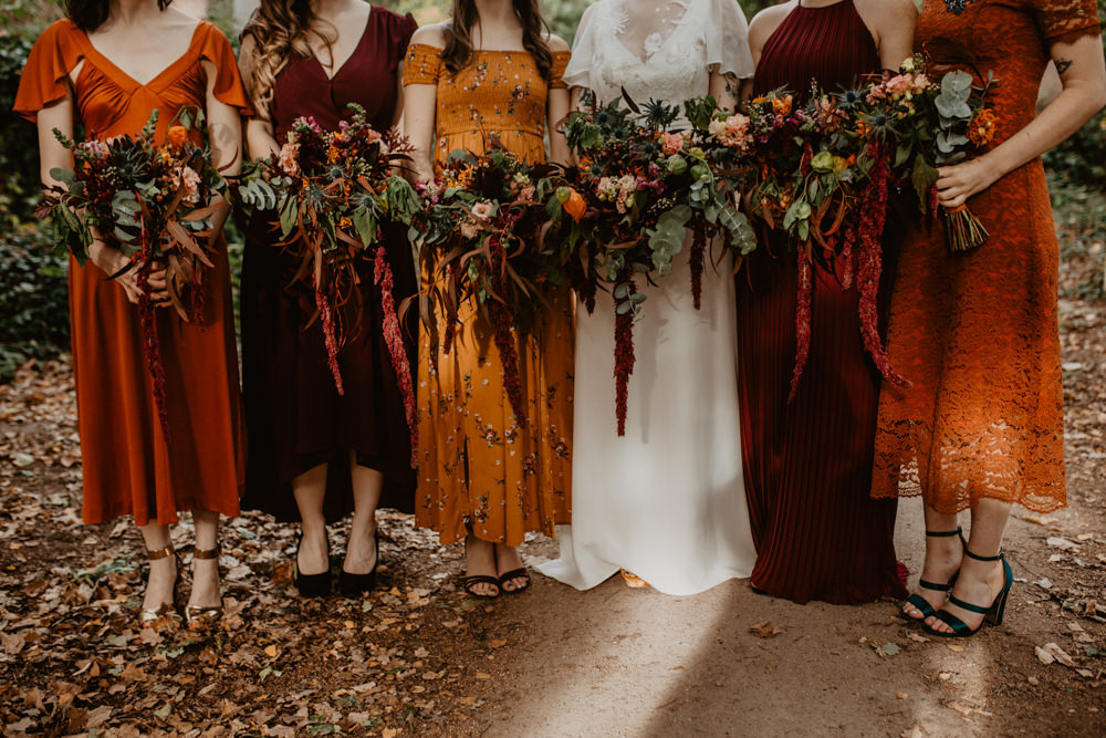 Autumnal Colour Scheme For A Gothic Wedding In London With Story