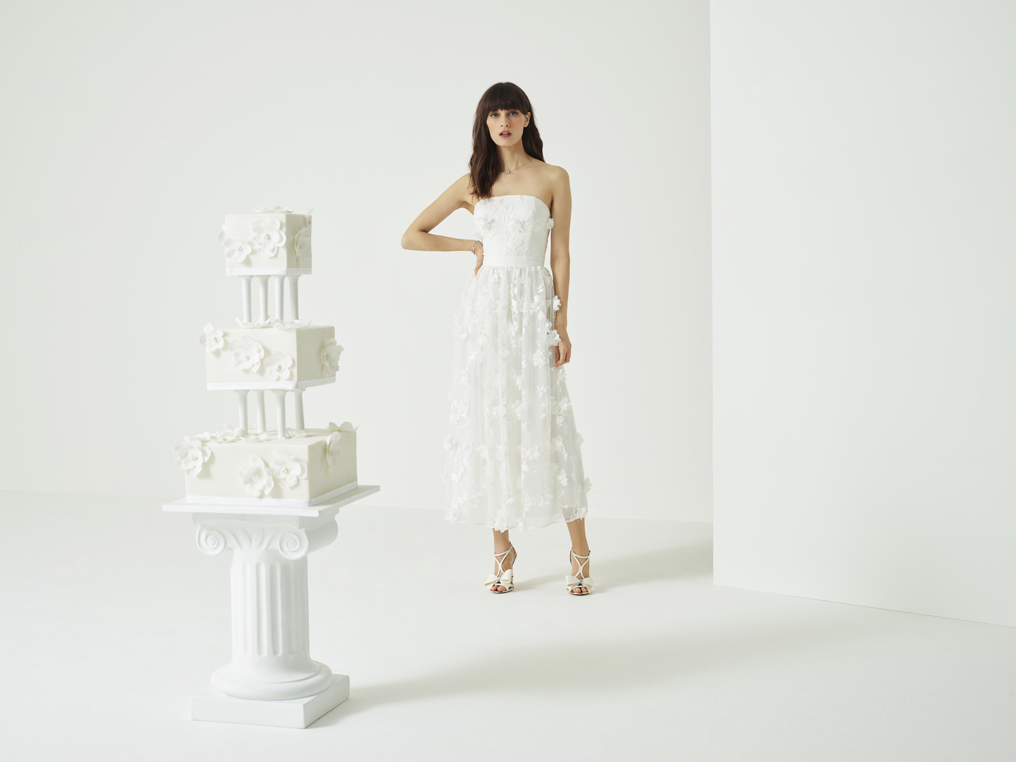 518e02592cc0 Strapless Applique Wedding Dress from the new Ted Baker SS19 Tie the Knot  collection.