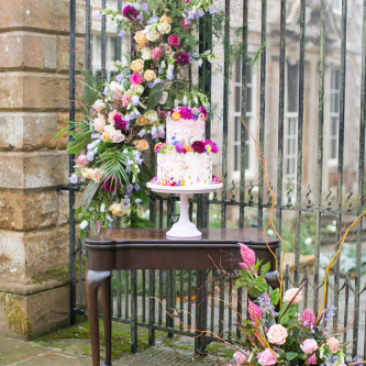 Floral Arrangement & Wedding Cake | Spring Equinox at Thorpe Manor Wedding Venue by Revival Rooms | Anneli Marinovich Photography