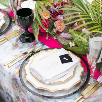 Elegant Place Setting with Wedding Stationery & Floral Centrepiece | Spring Equinox at Thorpe Manor Wedding Venue by Revival Rooms | Anneli Marinovich Photography