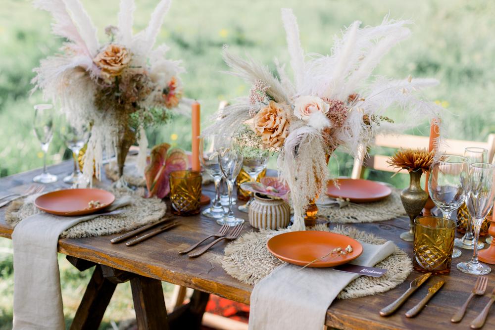 結婚式 ドライフラワー テーブル